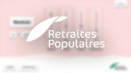 Retraites populaires touchscreen app