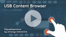 USB Content Browser - PopupExperience By Atracsys Interactive
